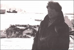 Cape Hallett Station, Antarctica, February 1968. The first woman to set foot there.